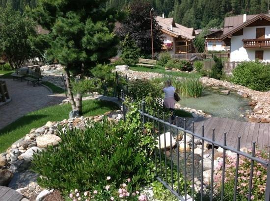 Kristiania Leading Nature & Wellness Resort: ...laghetto dalla piscina esterna...
