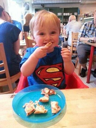 My son enjoys a Ricci's pizza