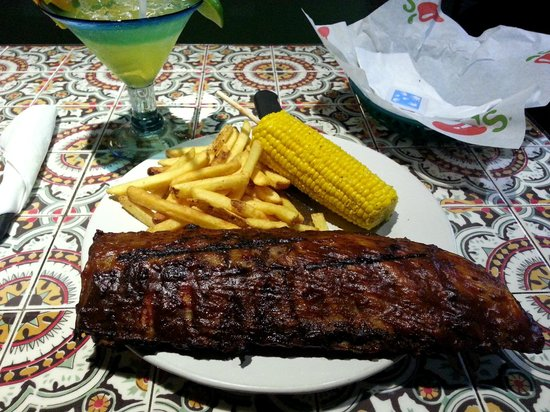Chili's: Baby ribs with sweet corn