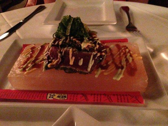 Moonstones: ahi tuna tataki 3 sauces, himalayan salt plate 16-
