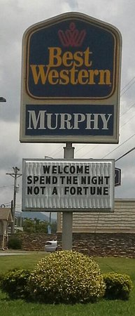 BEST WESTERN of Murphy: Tells the truth!