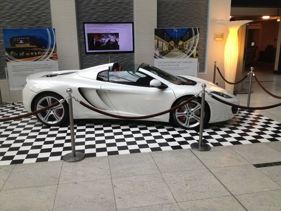 the new mclaren nicely displayed in the foaye - picture of hilton