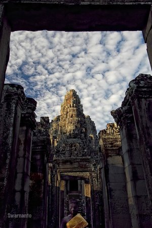 Siem Reap, Cambodia: Welcome to Bayon - The Main Entrance
