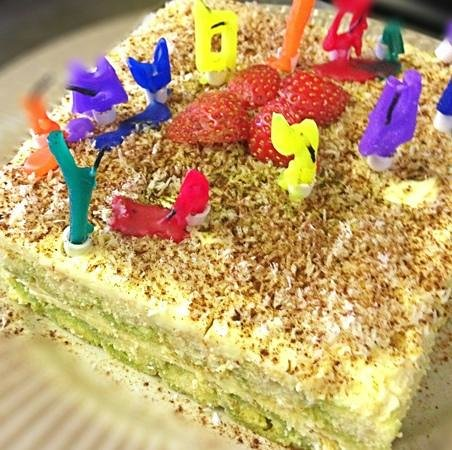 Tayay Kitchen: house compliment for birthday party, Tiramisu Coconut cake.
