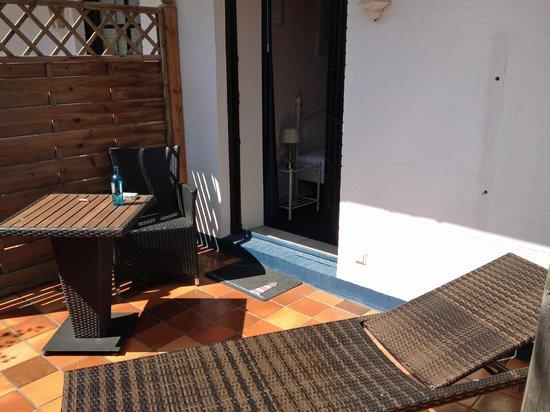 Hotel Sylter Blaumuschel: Terrasse