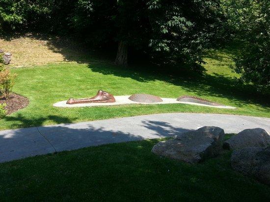 Pannett Park: Model in park