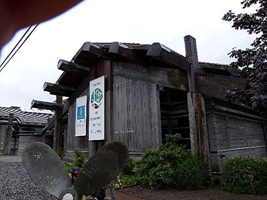 Museum of Northern British Columbia : The Entrance on a rainy day