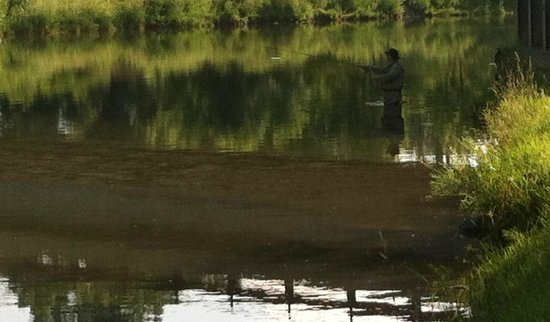 Turtle Tracks Riverfront Resort, LLC : Fly fishing at sunrise