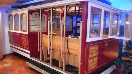 Cable Car Model with seatings inside