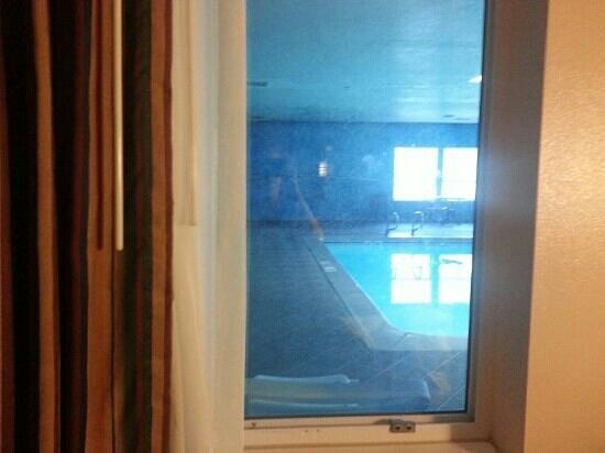 Quality Inn: my window to the inside pool