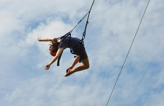 Sandy Cove Ministries: from fear to freedom on the BIG swing at Sandy Cove...