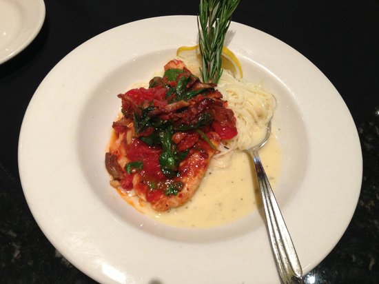 Nordstrom Cafe Bistro: Sauteed chicken with angel hair pasta (Delicious!)