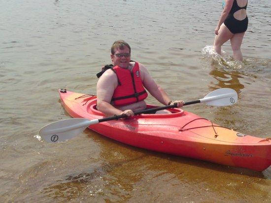 Silverglades Holiday Homes: Dad in kayak on Loch morlich 2013