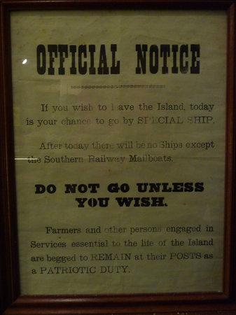 La Vallette Underground Military Museum: Official Notice