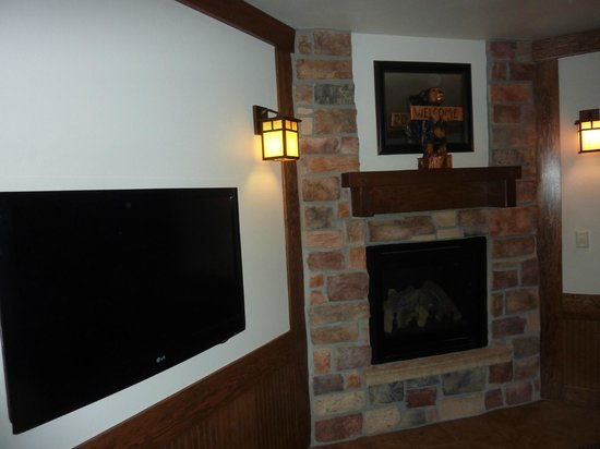 The Haber Motel: Too hot to use the fireplace!