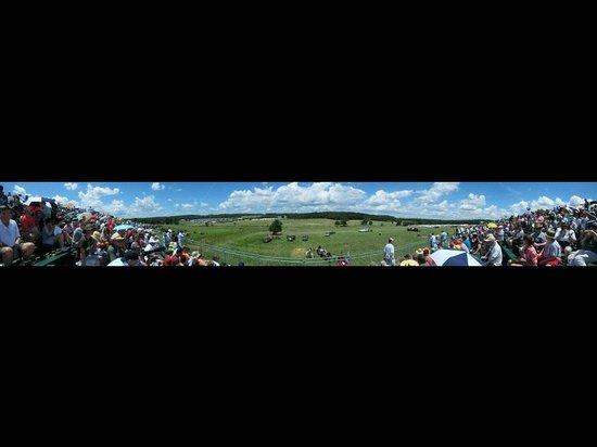 Annual Gettysburg Reenactment: Panorama view from main grandstand