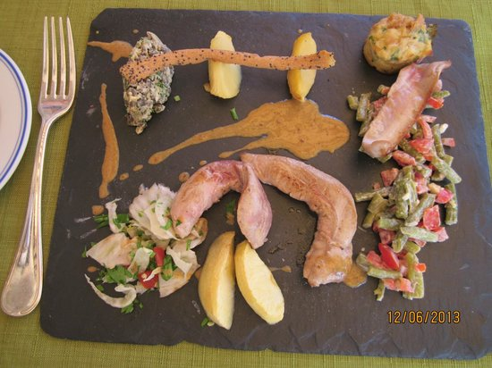 Logis L'Oustal del Barry : Duck salad