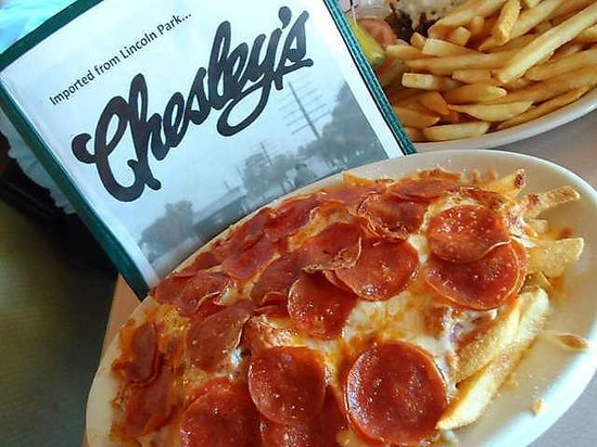 Chesley's: PIZZA FRIES  YUMMY