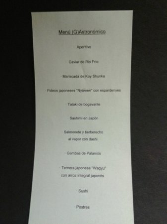 Ikebana picture of koy shunka barcelona tripadvisor for Ikibana menu barcelona
