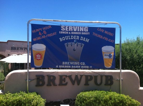 Boulder Dam Brewing Company: Boulder Dam Brewing Co. Sign
