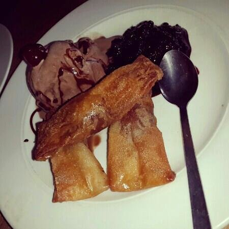 Blue Waters Cafe: Lindt phyllo truffels