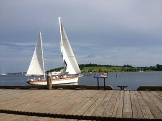 The Old Fish Factory Restaurant: View from the patio of the Bluenose golf course