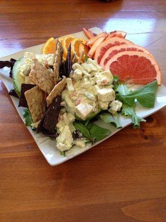 Park Island Market And Cafe: cashew chicken salad in avocado