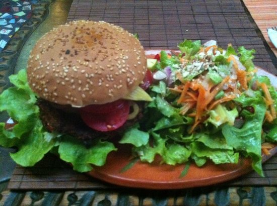 Sativa Studio Cafe: veggie burger