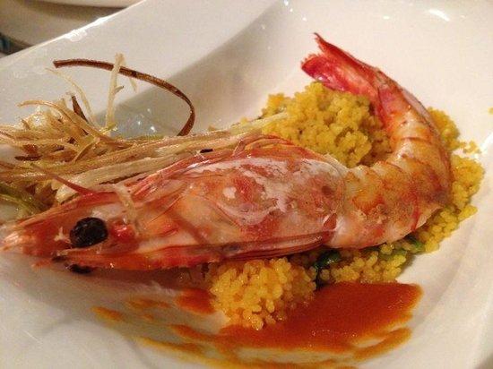 El Faro de El Puerto : langostino sobre couscous