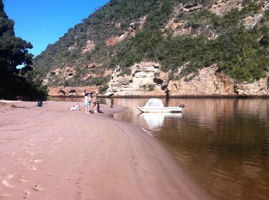 Keurbooms River Ferries: Swimming off one of the beaches