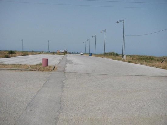 Evilion Sea & Sun Hotel: 150 m walk on this road to beach