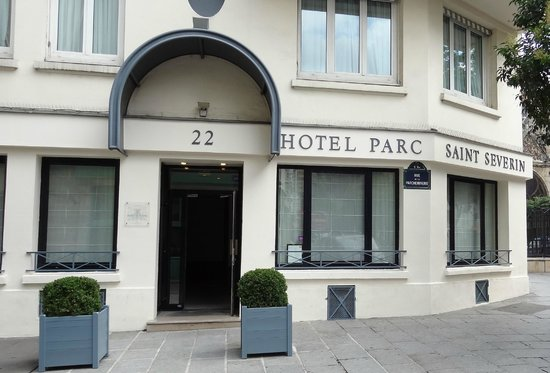 The Front Door of Hotel Parc St. Severin