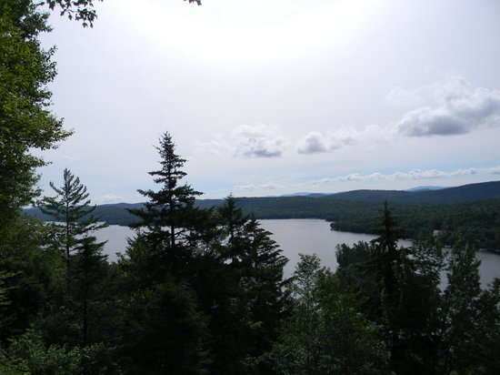 The Waldheim: View of Big Moose Lake from top of Billy's Squash Hiking Trail