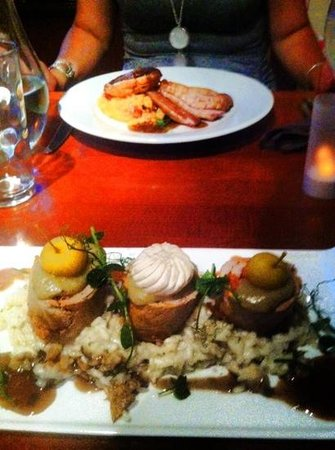 Ate O'Clock : my husband's dinner- chorizo stuffed pork on a bed of risotto
