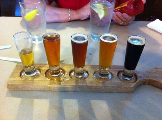 Depot Grille: beer sampler