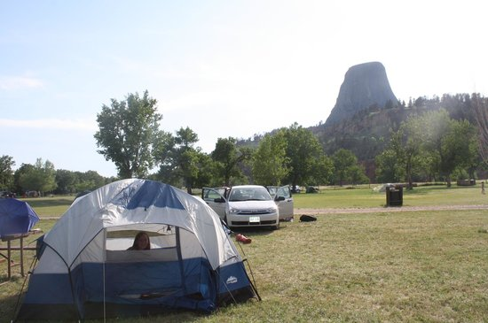 Devils Tower KOA: View from our tent