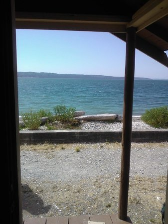 Cama Beach State Park: View from front door of waterfront cabin.
