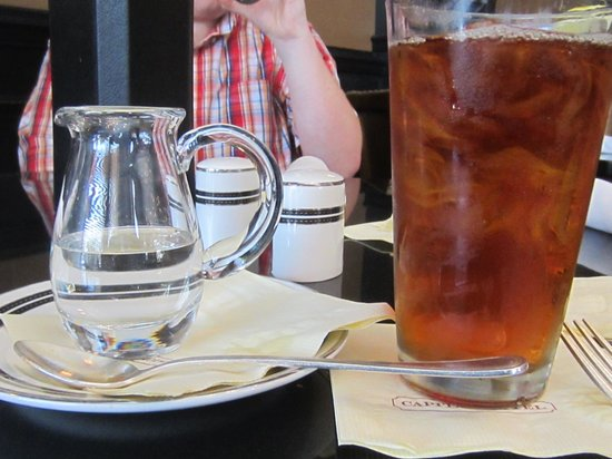 Capital Bar and Grill : Not your everyday glass of tea...