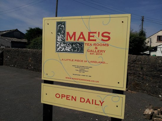 Mae's Tea Room & Gallery : MAE's sign