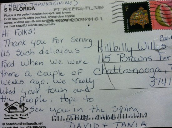 Hillbilly Willy's BBQ: More sweet reviews from our customers