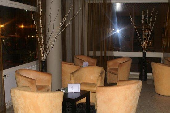 Bagnoles Hotel: le salon avec écran plat