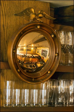 Brava: Detail of our mirror over the bar