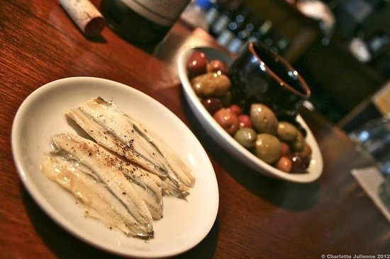 Brava: Marinated White Anchovies & Marinated Olives