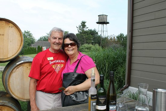 Inniskillin Wines at the Brae Burn Estate: Gail and Don the Inniskillin Tourmaster