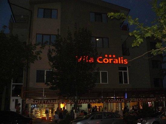 Villa Coralis: View by night