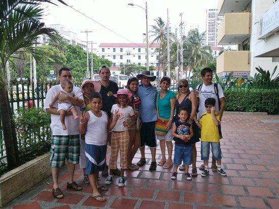 Hotel Cartagena Real: parte delante del hotel cuando nos disponíamos de regreso a Bucaramanga ....