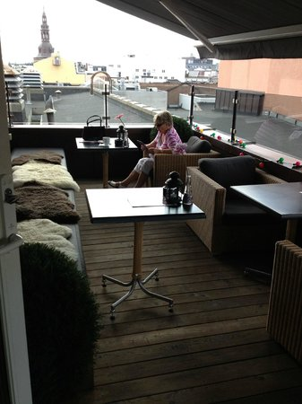 Clarion Collection Hotel Folketeateret: Dachterrasse