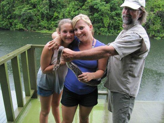 Jungle Land Panama Floating Lodge: A snake!!!!
