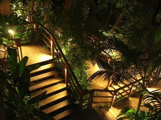 Paresa Resort Phuket: Les escalier de nuit