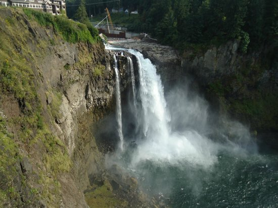 View Of Snoqualmie Falls Just Outside The Restaurant